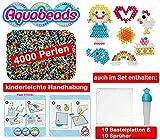 Aquabeads - XXL Party-Set mit 4000 Perlen, 10 Bastelplatten und 10 Sprühflaschen auch als Refill/Nachfüllung