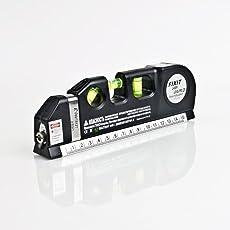 Chinese Multipurpose Level Laser Horizon Vertical Measure Tape Aligner Bubbles Ruler Multifunction Laser Level Leveler Tool