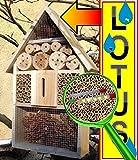 Gartendeko Nistkasten 50 cm mit Lotus Effekt Marienkäfer Schmetterling Insektenhotel LOTUS + 2 x Sichtglas + Marienkäferhaus + Schmetterlingshaus, Insektenhotel LOTUS,groß 50 cm mit Lotus-Effekt Oberflächen Beschichtung und 2 Sichtgläsern 8 und 11 mm Beobachtungsröhrchen komplett mit Füllmaterial, Insektenhäuschen- ökologische biologische natürliche Blattlausbekämpfung