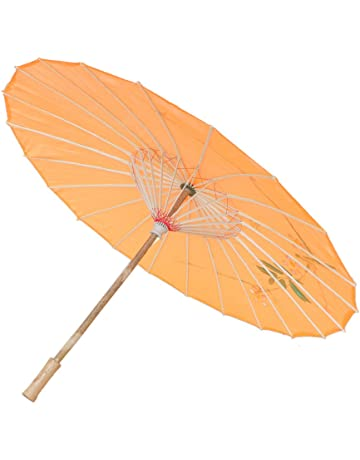 3546c1cf9dd0a Generic Handmade Chinese Cloth Floral Umbrella Wedding Dance Props - orange