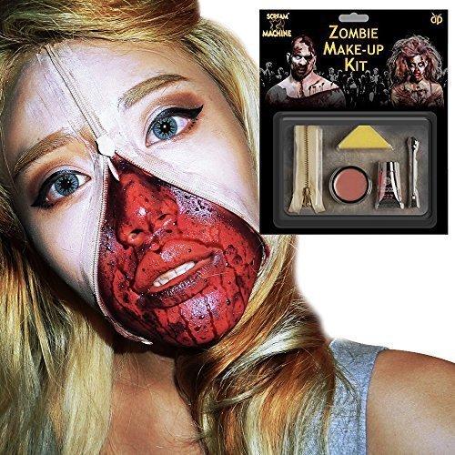 Kostüme Reißverschluss (Zombie Reißverschluss Modisches Kostüm-Set (Reißverschluss, Latex Skin, Künstliches Blut,)