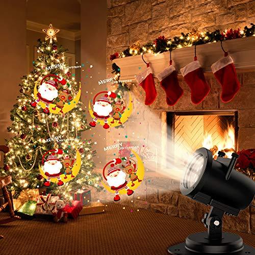 Outdoor Weihnachten Projektion Licht wasserdicht Landschaft Spotlight Thanksgiving Day Ostern Weihnachten Geburtstag Party Atmosphäre Lampe Halloween Projektion Licht Halloween Geschenk