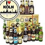 I love Köln | Bier aus aller Welt und D | Bier Geschenk Set | 24 Biere