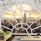 Fotomural 200x140 cm ! 3 tres colores a elegir - Papel tejido-no tejido. Fotomurales - Papel pintado Ciudad New York ventana d-A-0043-a-b