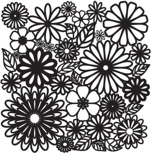 Crafters Workshop 12x 12Zoll Flower Frenzy Vorlage, transparent -