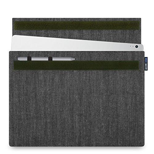 Adore June Laptop 13.5 Zoll Hülle [Serie Business] speziell für Microsoft Surface Book 2/Microsoft Surface Book [Charakteristisches Material] Fischgrat-Stoff, Tasche mit [Stift-Halterung]