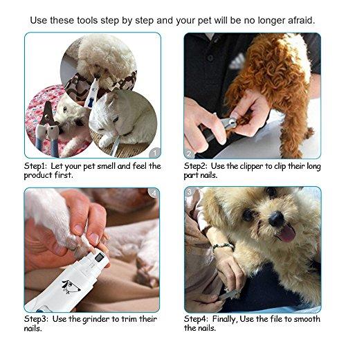 AMIR Krallenschleifer mit USB-Anschluss für Hunde - 3