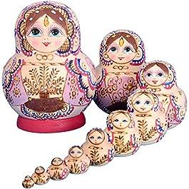 YAKELUS Marchio di Matrioska specializzato, Nesting Dolls Matrioske Bambola Matrioska Russa in 10 Pe
