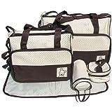 Baby World Ensemble de sacs à langer 5 pièces Différentes couleurs disponibles