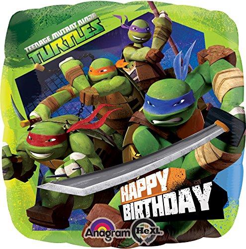 amscan Teenage Mutant Ninja Turtles Geburtstag Folie Ballon Standard (Ninja Turtles Ballon)