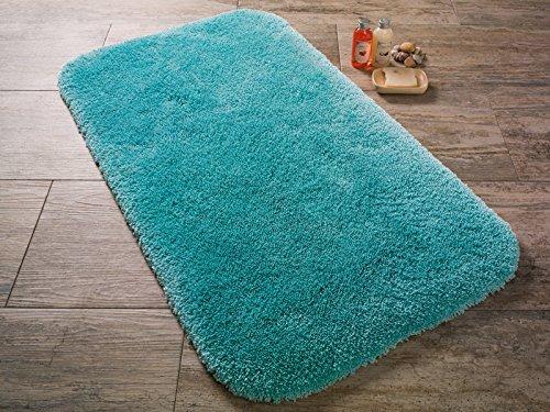 Confetti tappeto da bagno tappeto tappetino unicolore turchese