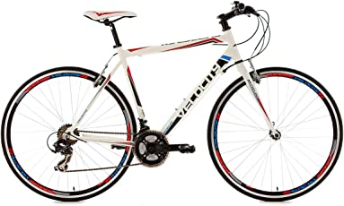KS Cycling Uni Fahrrad Fitnessbike Alu-rahmen 28 Zoll Velocity 21-gänge RH 56 cm, Weiß, 28, 121R