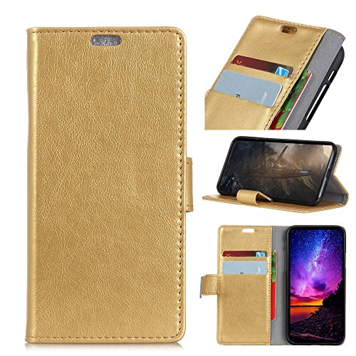 BELLA BEAR Case for Wiko Sunny 3 Mini,Flip Cover-with Bracket Function and  Wallet Function/Easy to Carry/Quality warrenty/Design Fashion-Gold