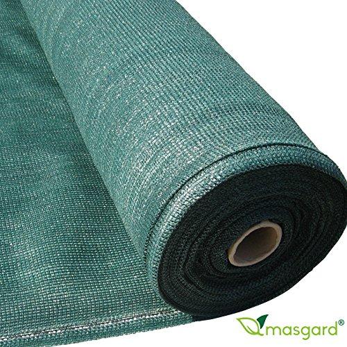 Masgard® Schattiergewebe 150 g/m² verschiedene Abmessungen (Schattierwert ca. 90%) Sonnenschutz Sichtschutz Windschutz Zaunblende (1,50 m x 25,00 m = 37,5 m² (Rolle))