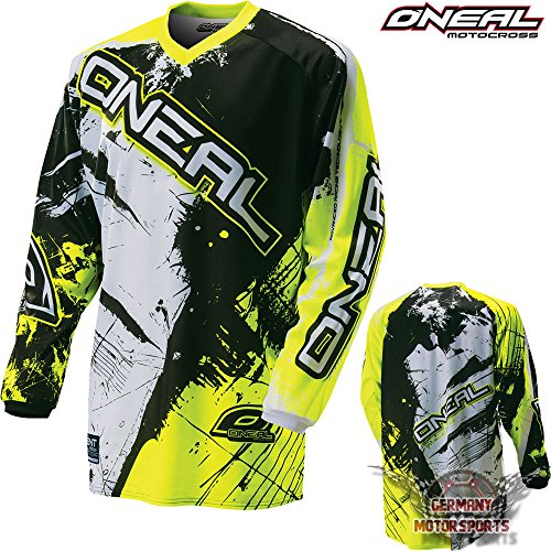 Oneal Shirt Jersey Trikot MX Motocross Fahrrad MTB Mountainbike Enduro Offroad Oberteil (S, neon gelb)