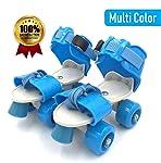 Shopoflux™ Roller Skates for Kids Age Group 5-12 Years Adjustable 4 Wheel Skating Shoes (Multi Color)