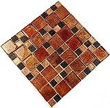 Fliesen Mosaik Mosaikfliesen Glas glänzend Kupfer Bad WC Küche 8mm Neu #S07