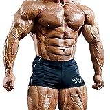 Musclealive para hombre gimnasia apretado entrepierna 4 Culturismo Pantalones cortos de poliéster y lycra