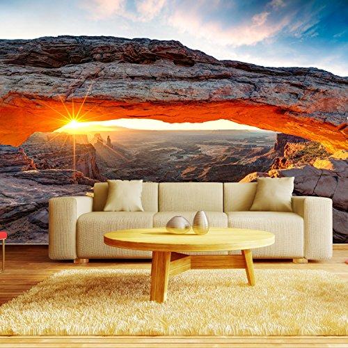 Fototapete Mesa Arch USA Vlies Tapete Wandtapete L 300 x 210 cm - 6 Teile - Vlies - Tapete - Moderne Wanddeko - Wandbilder - Fotogeschenke - Wand Dekoration wandmotiv24 Größe: