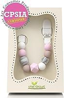 Little Sprouts - Cadena de chupete 2 en 1 - Moderna y Moda cuentas de silicona para dentición con formas únicas - Ideal...