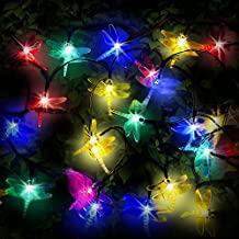 SPV Lights 30 Multi-colour LED Dragonfly Solar Fairy String Lights