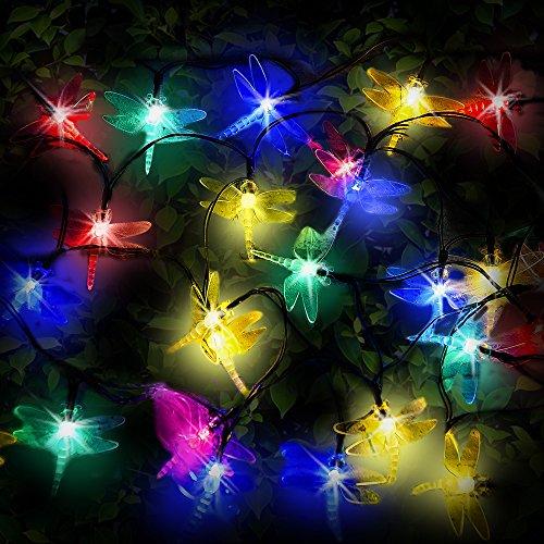 Muss Pflanzen Liebe (30mehrfarbige LED Libelle Solar Lichterkette von SPV Lights)