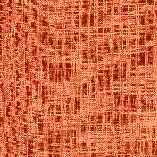 Lewondr Fine Linen Throw Pillow Case, Set of 2 Square Soft Woven Fine Throw Pillow Cover Sham Sofa Cushion Decoration Solid Color Pillowcase 12x20 Inch(30x50 cm) - Orange
