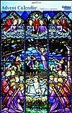 Caltime Religieuse Crèche de Noël vitrail Calendrier de l'Avent 24.5cm x 35cm Blanc avec enveloppe