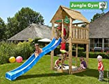 Spielturm Jungle Cabin - Set mit Feuerwehrstange Sandkasten Kletterturm - Jungle Gym (inkl. Holzpaket)