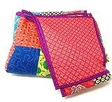 """'""""Agas algodón multicolor/indio colcha cama doble Cama Verano Edredón 160x 220cm muchos modelos diferentes"""