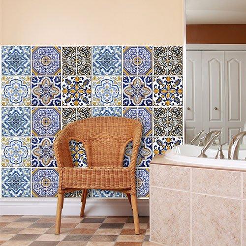wall art PS00005 Adesivi in pvc per piastrelle per bagno e cucina ...
