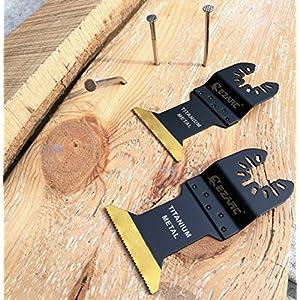 EZARC Titanio dientes Multi herramientas Oscilantes para corte Madera, metal y material duro - 3pc