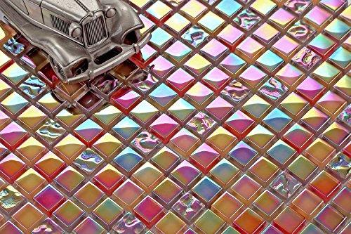 Glasmosaik Mosaikfliesen Mosaik Mosaikglas Fliesen Hell-Dunkelsilber 30x15cm neu