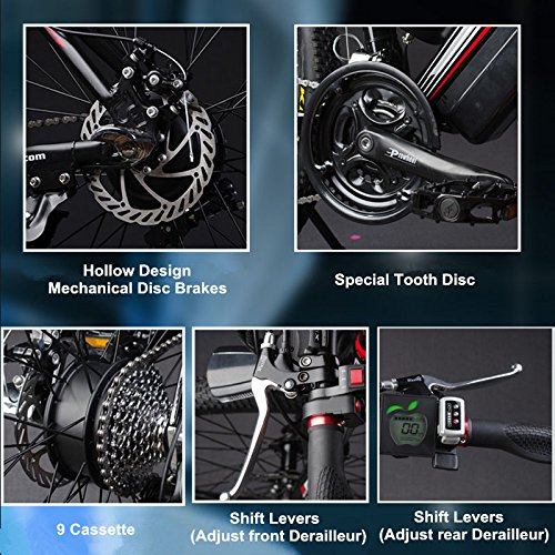 "61A5E1afaFL. SS500  - 26"" 48V Lithium Battery Aluminum Alloy Electric Assisted Bicycle, 27 Speed Electric Bike, MTB/Mountain Bike,adopt Oil Disc Brakes,Pedelec."