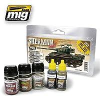AMMO Fury Sherman Set, A.MIG-7427, Multicolore