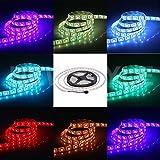 JOYLIT 5 M¨¨tres DC 24V RGB Multicolore Bande LED Etanche Flexible 5050 SMD 300 LEDs Ruban ¨¤ LED Bande