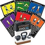 Kettlebell Übung Karten von Strength Stack 52. Kettlebell Workout Spielkartenspiel. Video-Anweisungen enthalten. Learn Kettle Bell Bewegungen und Conditioning Drills. Startseite Fitness Training Programm.