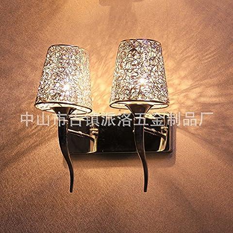 midtawerAlambre de aluminio cuadrados utilidad doble cabezal innovador arte aestic bajo luces de pared ,40*2, amarillo cálido