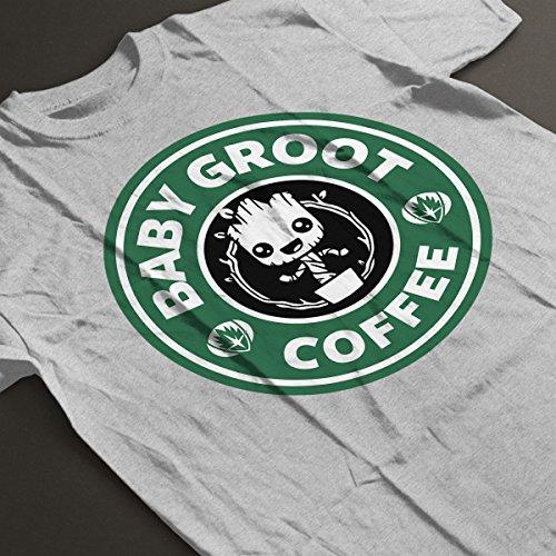 Guardians Of The Galaxy Baby Groot Coffee Starbucks Women's T-Shirt Heather Grey
