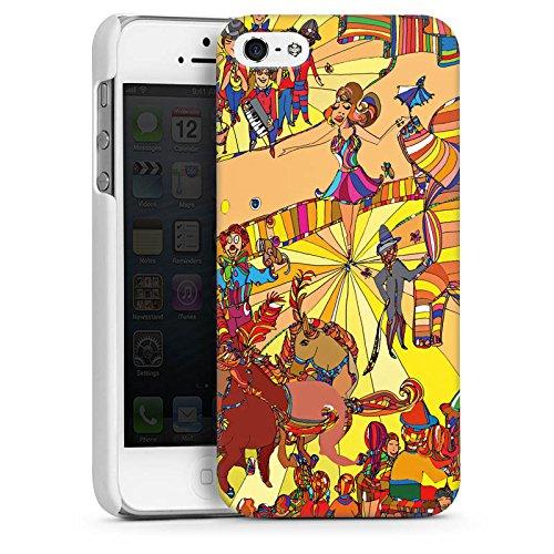 Apple iPhone 6 Housse Étui Silicone Coque Protection Cirque Animaux Musique CasDur blanc