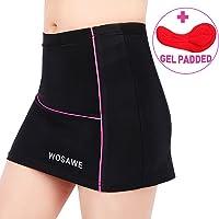 WOSAWE Women's Running Cycling Tennis Gym Athletic Skirt Skort Large Black/Pink