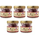 UPAKARMA Pure, Natural and Finest A++ Grade Kashmiri Kesar / Saffron Threads 1 Gram- Pack of 5