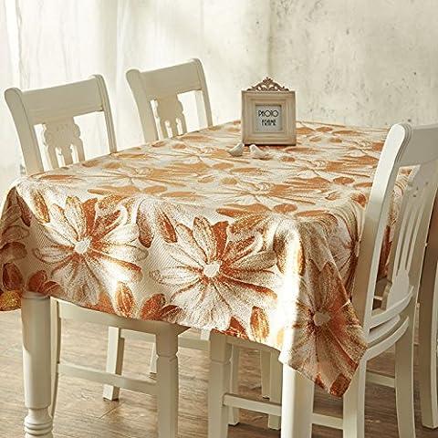GS~LY Accueil chaleureux et haut de drapeau de table, nappe en mode simple décoration d'une table basse, nappe en tissu137cm*200cm , gris , taille personnalisée
