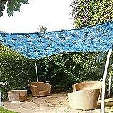 Sonnennetz für Sonnenschutzgitter Sonnensegel Markisen Tarp Tarnnetz Zelte, für Garten Dekoration Balkon Privatsphäre Auto Pflanzenschutz, Blaue Farbe, Mehrere Größen Optional