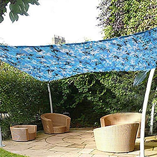 enschutzgitter Sonnensegel Markisen Tarp Tarnnetz Zelte, für Garten Dekoration Balkon Privatsphäre Auto Pflanzenschutz, Blaue Farbe, Mehrere Größen Optional ()