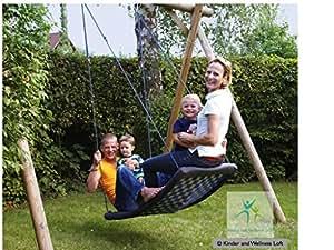 Grand Balançoire pour enfant(s) Standard L blanc/blue á 150 kg, amusera pour 4 enfants et toute la famille