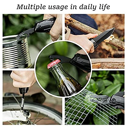 Bibury 5 in 1 Multitools, Foldable Pliers Multitool Stainless Steel Multi Tool, Multi-Purpose Pliers with Nylon Pouch Ideal Pocket Tool for Camping, DIY Activities, Fishing, etc 6