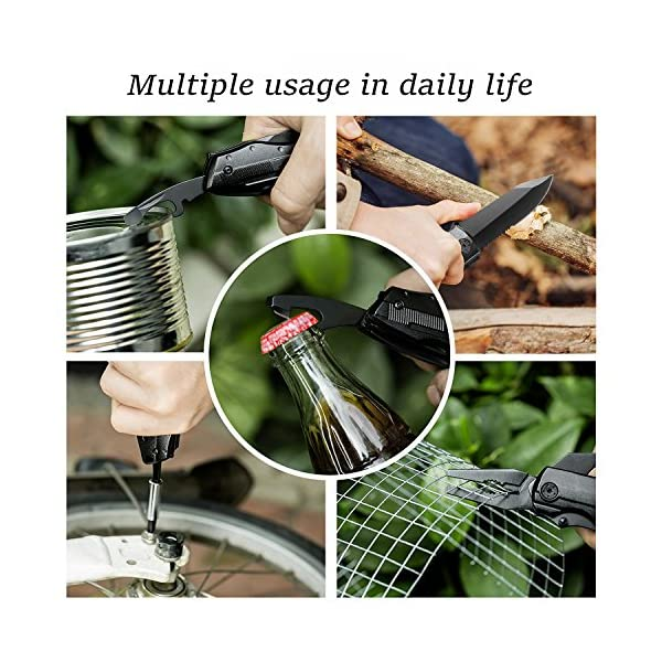 Bibury 5 in 1 Multitools, Foldable Pliers Multitool Stainless Steel Multi Tool, Multi-Purpose Pliers with Nylon Pouch… 6