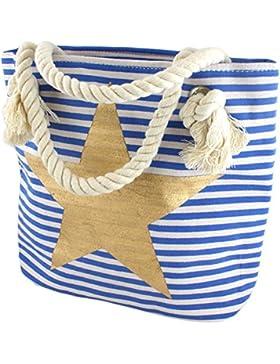 Sonia Originelli XS Strandtasche Mini Kinder Beach Kordel Stern Anker kleine Streifen Maritim T026