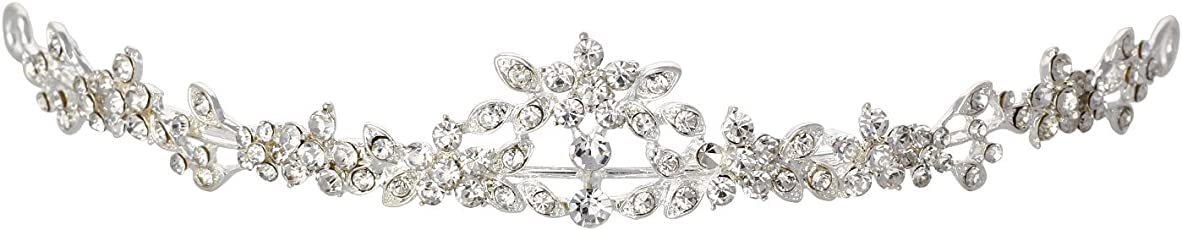 Aaishwarya Shimmering Wedding/ Pageant/ Prom Night Crystals Tiara / Head Jewelry for Girls and Women